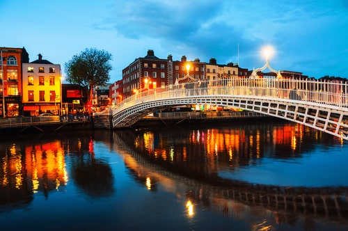 Another of our picks for most beautiful places in Ireland is Dublin City, the capital of Ireland.