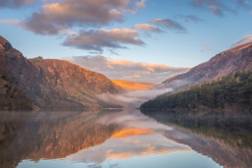 Glendalough is where history and nature collide, another of our most beautiful places in Ireland. Look at that amazing Irish countryside.