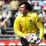 Putting one past Pat Jennings!